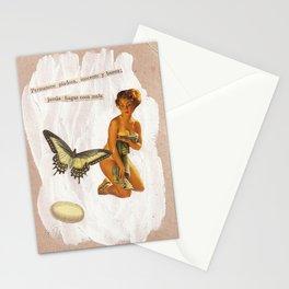 lady vintage Stationery Cards