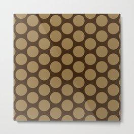Dots Pattern 7 - Walnut, Tortilla, Brown Metal Print