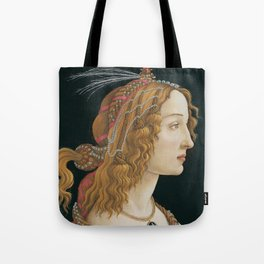 Idealized Portrait of a Lady (Portrait of Simonetta Vespucci as Nymph) Tote Bag