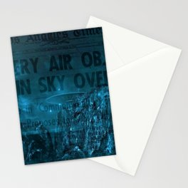 Mystery Air Objects Seen In The Sky Over LA Contemporary Art Portrait Stationery Cards