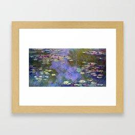 Claude Monet Water Lilies Framed Art Print