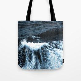 Dark Sea Waves Tote Bag
