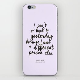 Different person iPhone Skin