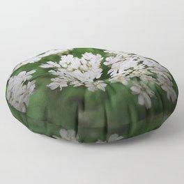 Cow Parsley Flower Floor Pillow