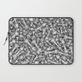 Blitz Chess B&W Laptop Sleeve