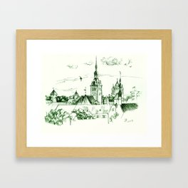 Medieval landscape. Framed Art Print