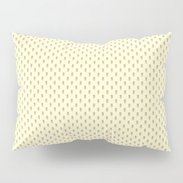 Hedgehog Forest Friends All-Over Repeat Pattern on Lemon Yellow Pillow Sham