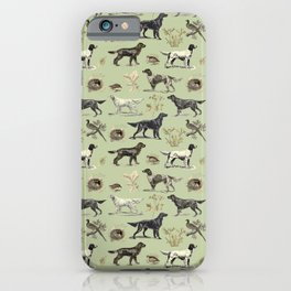Bird-dog pattern iPhone Case
