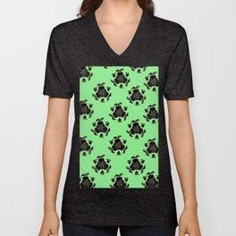 Emblem Pattern: Mint Unisex V-Neck