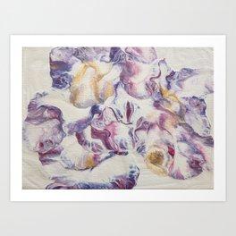 Purple parchment Art Print