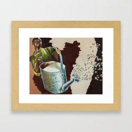 Cobalt Rain Framed Art Print