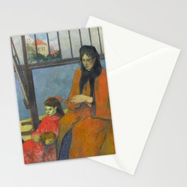 Schuffenecker Family by Paul Gauguin Stationery Cards