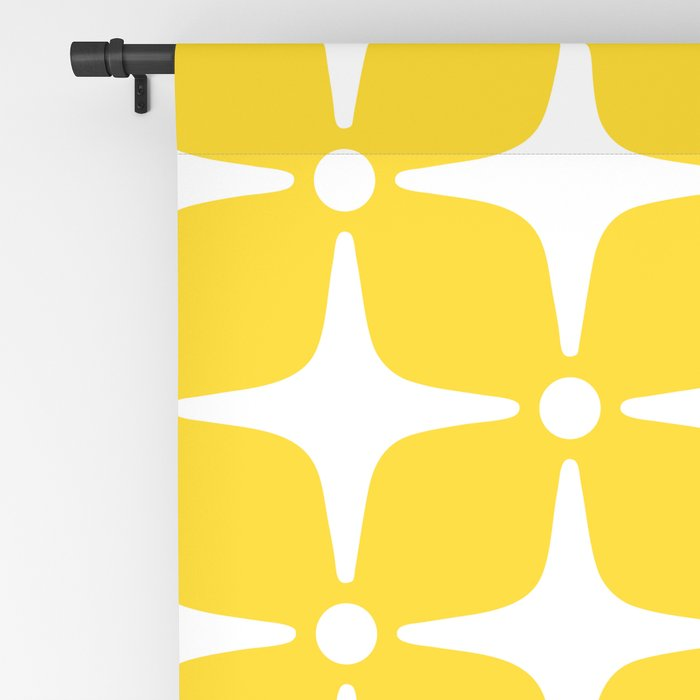 Mid Century Modern Star Pattern Yellow 2 Blackout Curtain