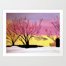 Winter's blush Art Print