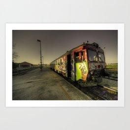 Pula Graffiti train  Art Print