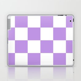 Large Checkered - White and Light Violet Laptop & iPad Skin