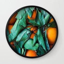 oranges #society6 #decor #buyart Wall Clock