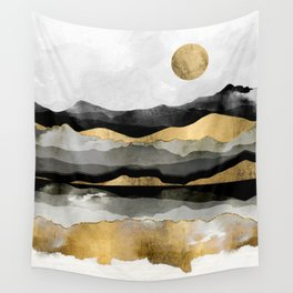 Golden Spring Moon Wall Tapestry