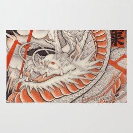 Japanese tattoo Typhoon dragon Rug
