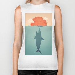 Shark Attack Biker Tank