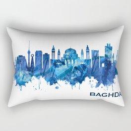 Baghdad Iraq Skyline Blue Rectangular Pillow
