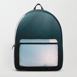 mountains, fog, clouds Backpack