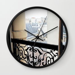 View Out My Parisian Window Wall Clock