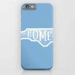 North Carolina Map State Blue Watercolor NC Home iPhone Case