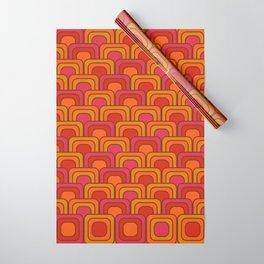 Geometric Retro Pattern Wrapping Paper