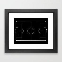 Soccer field / Football field in Black and White Framed Art Print