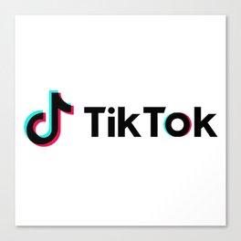 TikTok Glitch Canvas Print