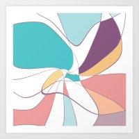 abstract summer 2 Art Print