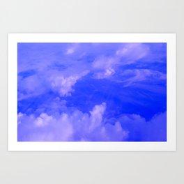Aerial Blue Hues III Art Print