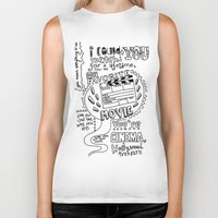 lettering Biker Tanks featuring Lettering Lyrics by Insait