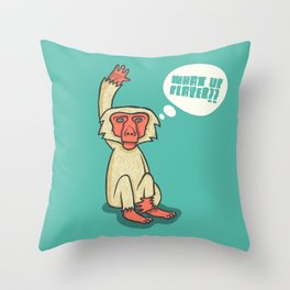 What Up Player? Throw Pillow