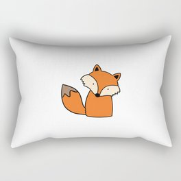 Simple hand drawn fox Rectangular Pillow