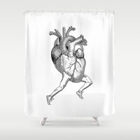 racing Shower Curtains featuring Racing Heart by Other People's Characters