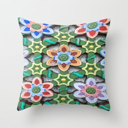 Haedong Yonggungsa Temple Door Carving III Throw Pillow