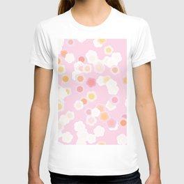 Manga overlapping flowers T-shirt