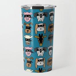Ninja Animal Gang - Blue Travel Mug