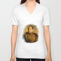 allyson johnson V-neck T-shirts featuring Dwayne (The Rock) Johnson - replaceface by replaceface