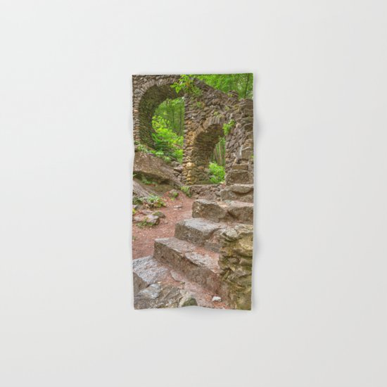 Forest Castle Ruins Hand & Bath Towel