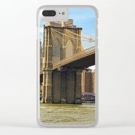 Brooklyn Bridge on a Sunny Day Clear iPhone Case