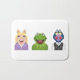 Kermit Miss Piggy And Gonzo The Muppets Pixel Bath Mat
