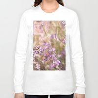 lavender Long Sleeve T-shirts featuring Lavender by Tina Sieben