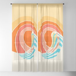 Sun Surf Sheer Curtain