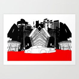 Demolition Derby 1984 Art Print
