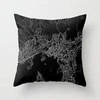 oslo Throw Pillows featuring Oslo by Line Line Lines