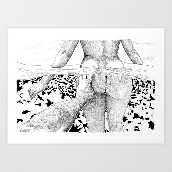 The Swim by suzieqillustratrice