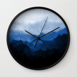Mists - Blue Wall Clock